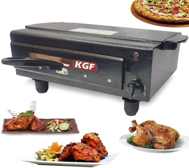 KGF TIMER And HEAT Controller STANDARD Electric Pizza Maker With All Accessories , Heating Element 2000Watt with 2 Year warranty , SIZE 16 INCHES Color Classy BLACK , MADE IN INDIA Pizza Maker