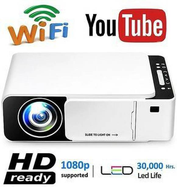 UNIC T6 WIFI LED Projector 1080p Full HD with Built-in YouTube - Supports Wifi, HDMI,VGA,AV IN,USB, Miracast - Mini Portable 4700 lm LCD Corded 4700 lm LED Corded Portable Projector