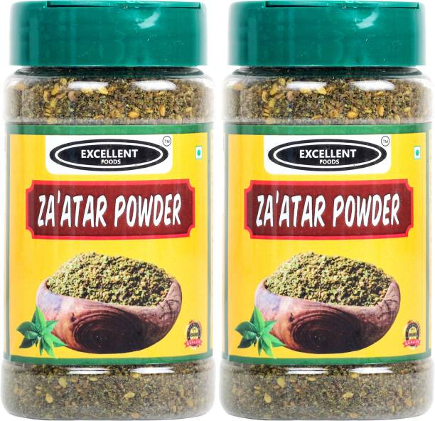 Excellent Foods Za'atar Powder - Traditional Middle Eastern Spice Blend - Premium Quality 100 Grams*2 Bottle