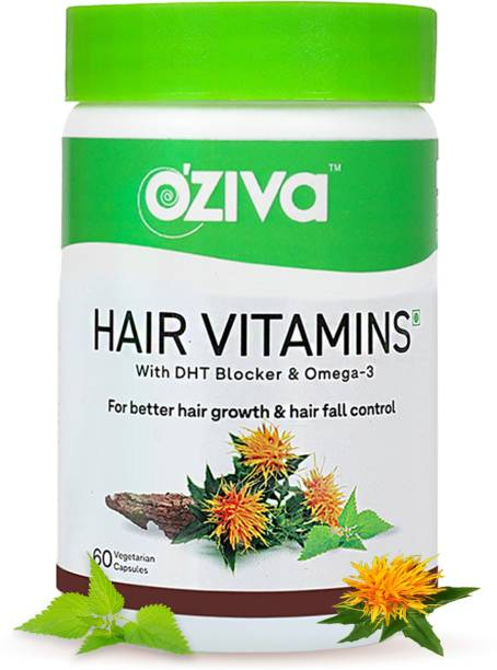 OZiva Hair Vitamins(With DHT Blocker & Omega 3)for Better Hair Growth & Hairfall Control