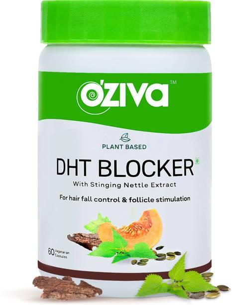 OZiva Plant Based DHT Blocker With Pine Bark for Hairfall Control & Follicle Stimulation
