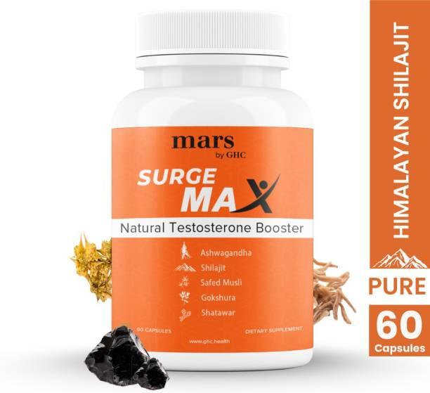 mars by GHC Pure Himalayan Shilajit, Safed Musli, Gokshura, Ashwagandha & Shatwari Capsules, 10 Natural Herbs For Energy & Stamina