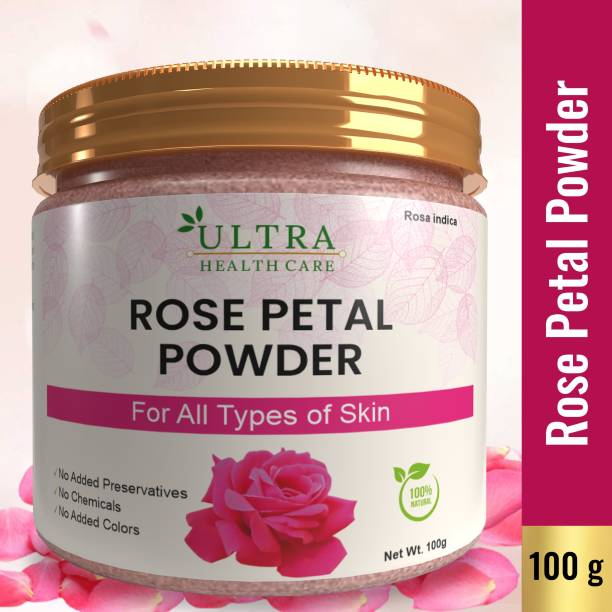 Ultra Healthcare Rose Petal Powder For Skin | Face Pack Mask for Fairness | Tanning & Glowing Skin | 100% Pure