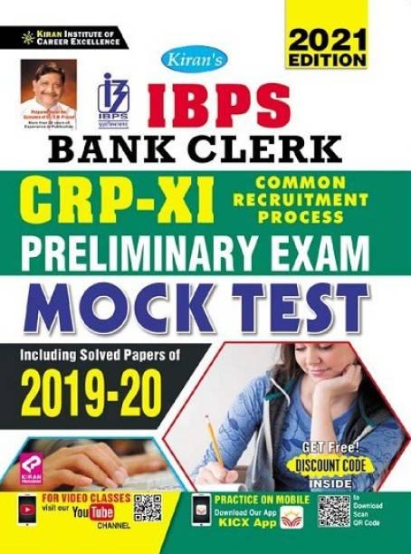 Kiran IBPS Bank Clerk CRP XI Preliminary Exam Mock Test Including Pervious Year Solved Paper 2019 to 2020 (English Medium)(3391)