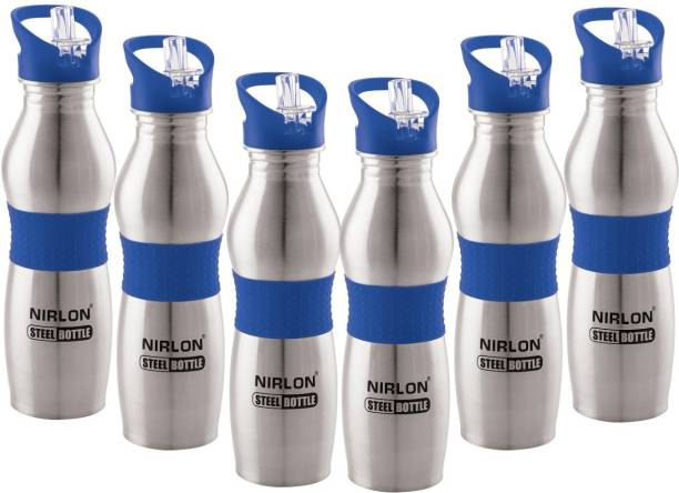 NIRLON STAINLESS STEEL EASY TO CLEAN,BLUE SIPPER CAP,WATER BOTTLE,USE FOR OFFICE, 750 ml Sipper