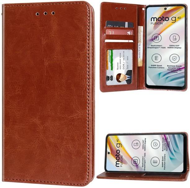 Unistuff Flip Cover for Motorola Moto G40 Fusion, Motorola Moto G60