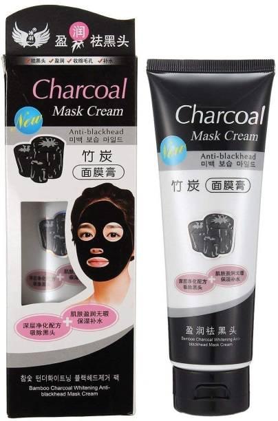 KA-KAIASHA CHARCOAL Mask Cream HIGH QUALITY ANTI-BLACKHEAD OIL-CONTROL BAMBOO MASK CREAM FOR ALL SKIN TONE