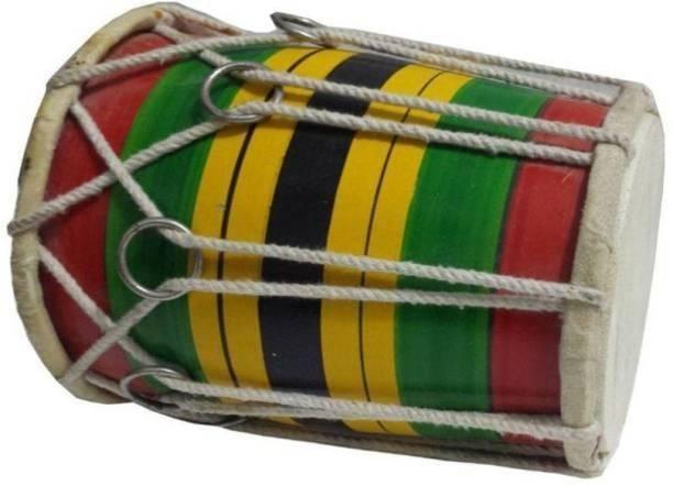 RAM musical 8'' inch baby dholak 02 Rope & Rings Dholak