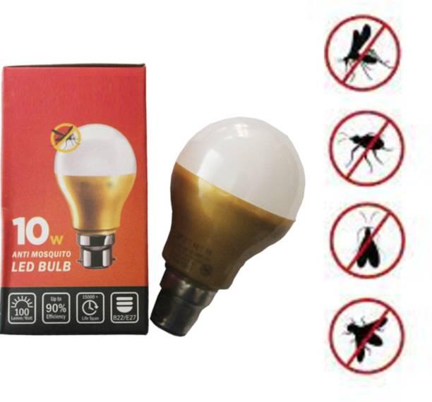 empresa industries 3 LED Lamp Anti Mosquito Lamp LED Mosquito Lamp Lighting Yellow LED Bug Light Bulb No Blue Light 220V-240V LED 10 - Watt (Eco Friendly LED Lamp Mosquito ) ( 3 Lamp) Electric Insect Killer