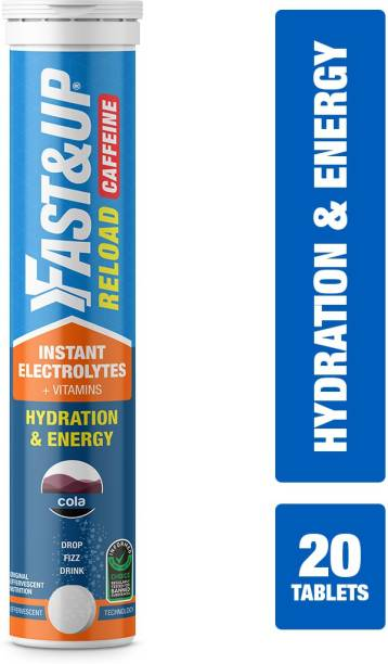Fast&Up Reload Caffeine Electrolytes- Hydration-Instant Energy Formula Effervescent Tablet