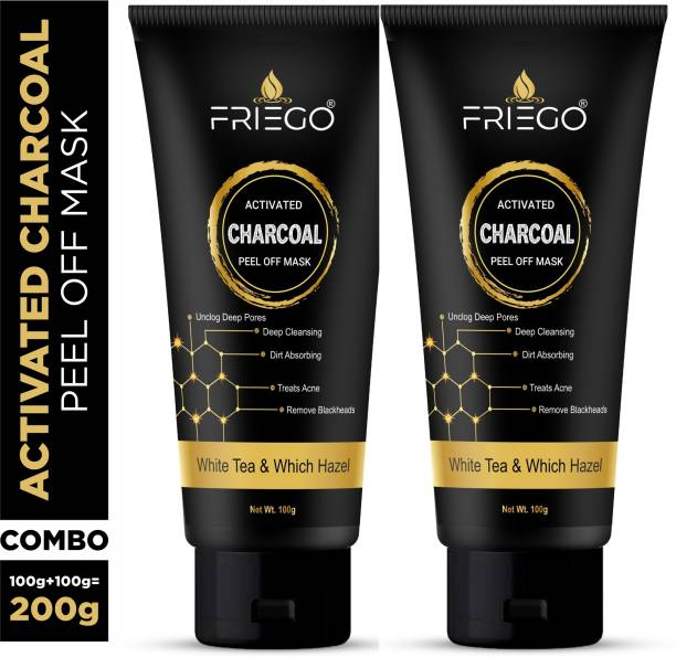 Friego Activated Charcoal Peel Off Mask Twin Pack