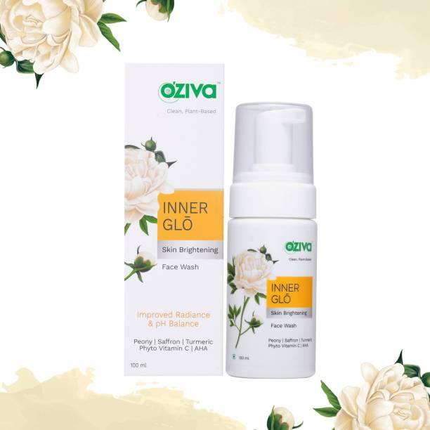 OZiva Inner Glo Skin Brightening  (with Phyto Vitamin C, Glycolic Acid AHA, Sandalwood & Yuzu) for Dark Spot Correction & Radiance Face Wash