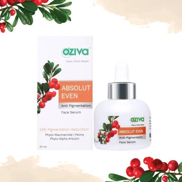 OZiva Absolut Even Anti-Pigmentation Face Serum (with Phyto Niacinamide, Phyto Alpha Arbutin, Aloe Vera & Rosemary) for Hyperpigmentation & Dark Spot Correction