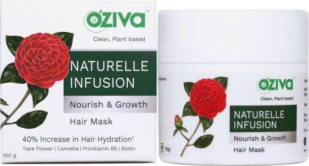 OZiva Naturelle Infusion Nourish & Growth Hair Mask (with Provitamin B5, Camellia, Rosemary & Shikakai) for Hair Growth, Nourishment & Damage Control