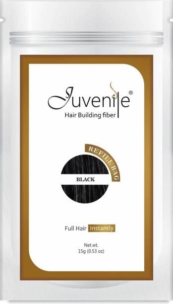 Juvenile Hair Building Fiber Refill Bag For All Hair Fibers Black JVNLRB15BL Extreme Hair Volumizer Hair Building Fiber