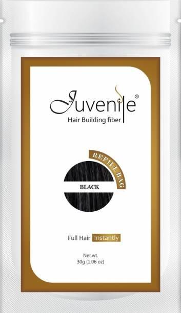 Juvenile Hair Building Fiber Easy Hair Fall Solutions Refill Bag Black RBBL30 Extreme Hair Volumizer Hair Building Fiber