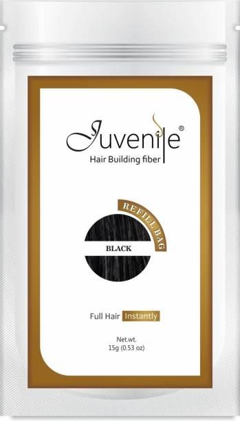 Juvenile Hair Fiber Blend Undetectably Refill Bag Black 15gm RBBL15 Extreme Hair Volumizer Hair Building Fiber