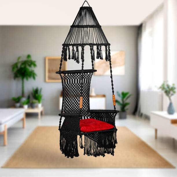 Curio Centre Premium Maharaja Swing with Cushion Polyester Large Swing