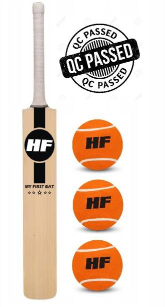 HF MY FIRST BAT WEAPON Junior Cricket Bat Size 3 For Age Group 8 Years with 1 Piece Tennis Ball Cricket Kit