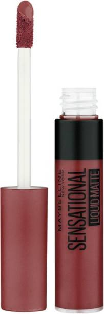 MAYBELLINE NEW YORK Sensational Liquid Matte Lipstick, 21 Nude Nuance, 7 g - Liquid Lipstick Shades Delivering Intense Matte Color Effect