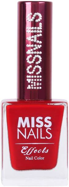 Miss Nails 15 Toxic Free Nail Color Mirror Like Finish Crystal Chrome Red Carpet Red Carpet