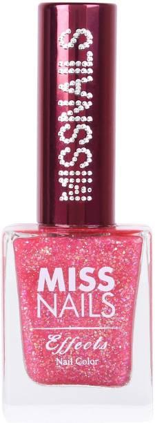 Miss Nails 15 Toxic Free Nail Color Mirror Like Finish Crystal Chrome Birthday Pink Birthday Pink