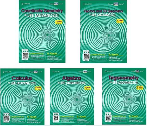 Cengage JEE Mains And Advanced Maths Combo ( Algebra, Calculus, Trigonometry, Vectors & Coordinate Geometry & 3D Geometry) Sets Of 5 Books ( For 2022 )