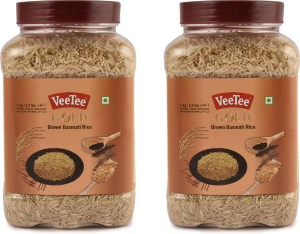 VeeTee Pack of 2 Gold Brown Brown Basmati Rice (Full Grain, Unpolished)