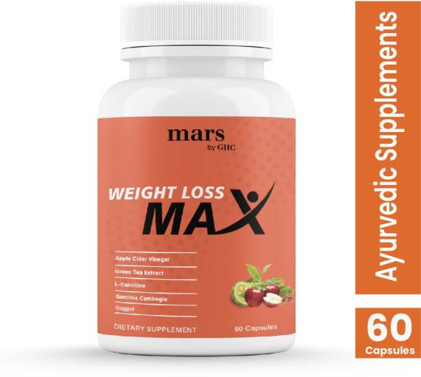 mars by GHC Apple Cider Vinegar, Garcinia, Guggul   Plant-based Natural Weight Loss Supplement