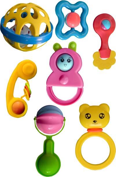 AKSHAR ABSOLUTE Rattles Toys Set for Babies Rattle Rattle