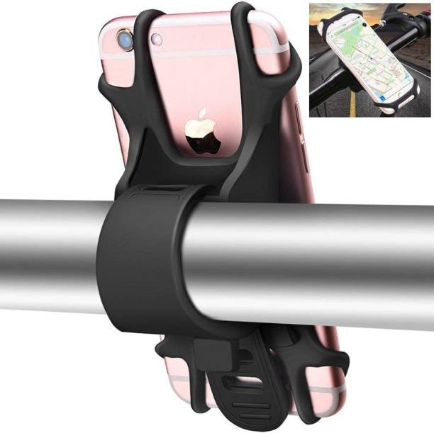 Upkaranwale Bicycle holder Bike Stand 360 Degree Rotaing Bike Stroller Silicone Snap Easy installation Holder(Black) Bike Mobile Holder