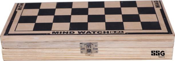 SSG Wooden Folding Chess Set, Handmade Game Board Strategy & War Games Board Game