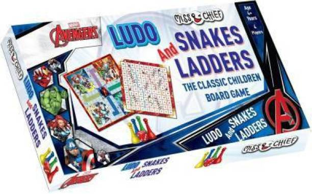 Miss & Chief Ludo+Snakes & Ladders Avengers Party & Fun Games Board Game