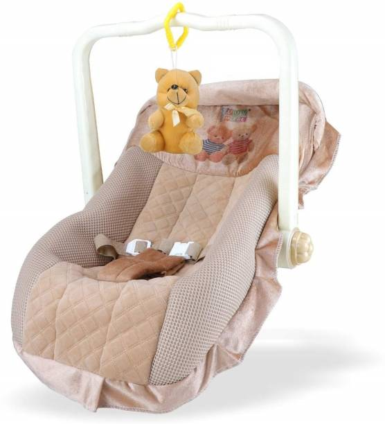 KIDS ZOO Flipkart smart Premium KIDS,ZOO feeding baby swing rocker, carry cot cum bouncer with mosquito net and Rocker and Bouncer (Brown) special pack Rocker and Bouncer