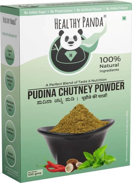 HEALTHY PANDA Pudina Chutney Powder / Mint Leaves Chutney Powder / Pudina Chutney / Pudina Chutney Podi / Pudina Karam Podi / 100% Fresh & Natural (100 Gms) 100 Pack of 100 Chutney Powder