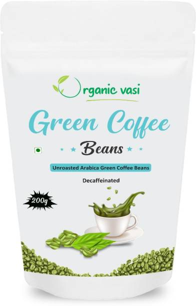Organic Vasi Green Coffee Beans For Weight Loss Supplement (200g Pack of 1) Coffee Beans