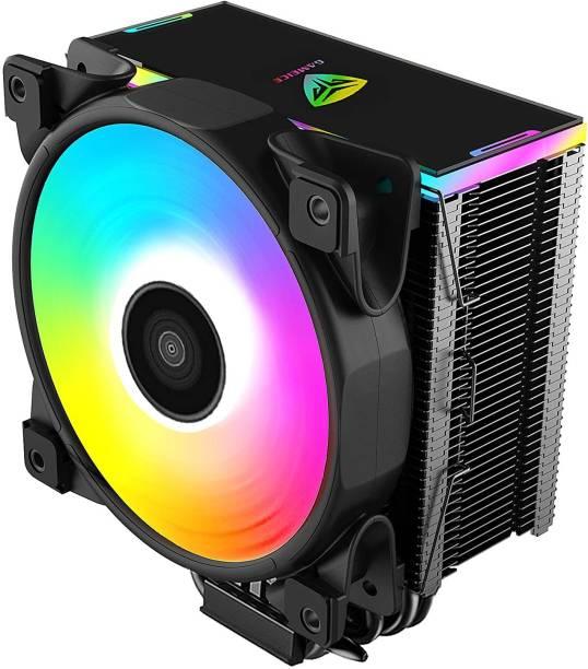 PCCOOLER D56A single Fan CPU cooler| rgb + speed controller | universal easy fitting| INTEL + AMD installation kit Cooler (Black) Cooler