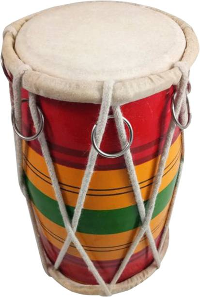 GT manufacturers 8 inch patta baby dholki 01 Rope & Rings Dholki