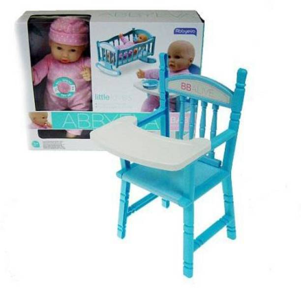 The Simplifiers Baby Alive AbbyEva Doll with Cradle, Milk Bottle, Rattle and Many Fun Items