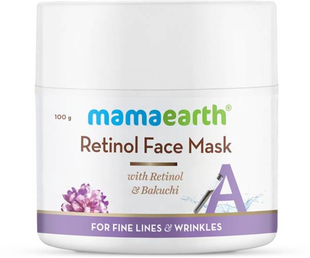 MamaEarth Retinol Face Mask for Glowing Skin, Anti Aging, with Retinol and Bakuchi for Fine Lines & Wrinkles