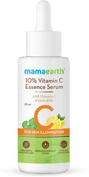 MamaEarth 10% Vitamin C Face Serum, Essence Serum with Vitamin C and Gotu Kola for Skin Illumination