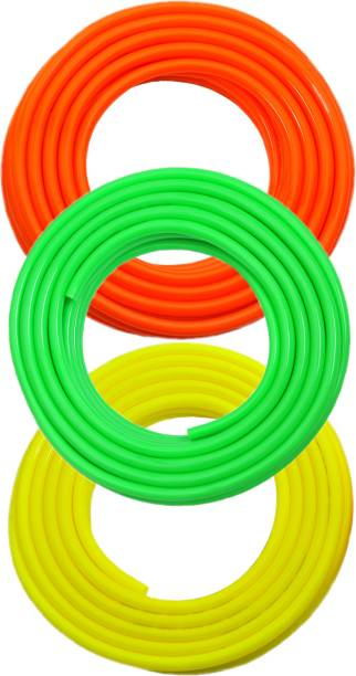 """SUNICE 05 METER FLEXIBLE HOSE PIPE MULTICOLOURED (Size:1/2"""" inch,12mm) ONLY Hose Pipe"""