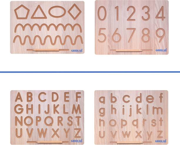 """Gridlab 4 IN 2 Combo English Alphabet, Number and Patten Board