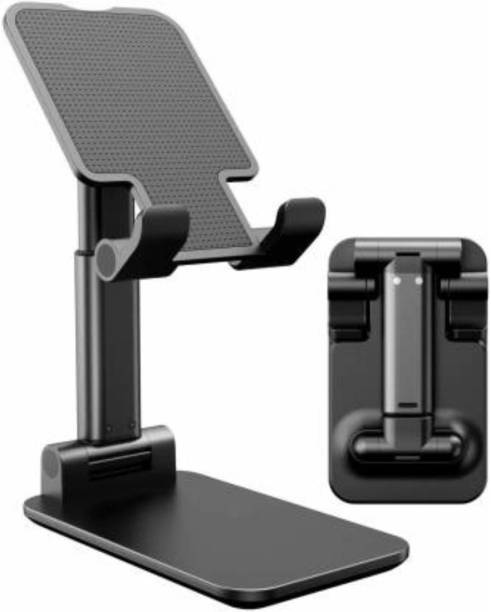 MOBONE Adjustable Foldable Cell Phone Portable Desktop Stand to Attend Online Classes, Shooting Videoes Vlogging, for Youtubers for Mobile Phones/Mini Tablet Mobile Holder