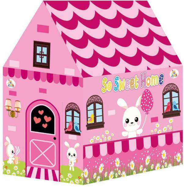 FEXMON Jumbo Size Extremely Light Weight , So Sweet Home Kids Play Tent House for 10 Year Old Girls and Boys (Pink & Red)