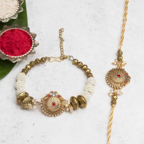 Flipkart SmartBuy Bhaiya Bhabhi Bracelet, Chawal Roli Pack, Rakhi  Set