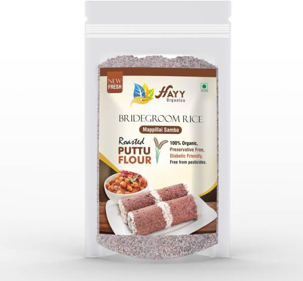 HAYYFOODS Bridegroom (Maapillai Samba) Red Rice Roasted Rice flour (Puttu Podi) (Steam Cake) (Super Food for Men 500 g