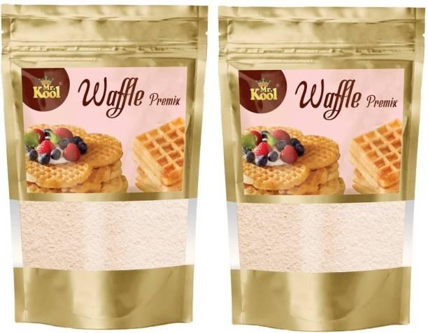 Mr.Kool Waffle Premix Powder 100 g Combo for Crunchy Waffles 200 g 200 g