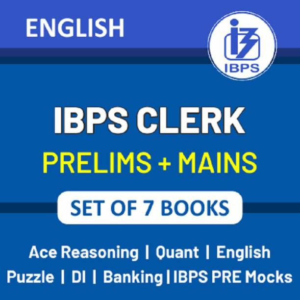 IBPS Clerk 2021 Books Kit For (Prelims + Mains) In English Printed Edition