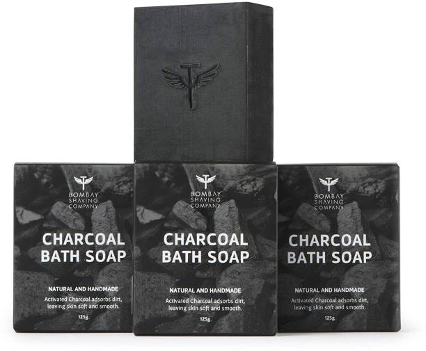 BOMBAY SHAVING COMPANY Deep Cleaning & Exfoliating Activated Charcoal Soap For Men & Women